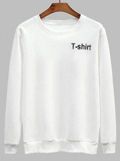 T-Shirt Mit Rundhalsausschnitt - Weiß
