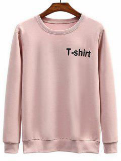 T-shirt Graphic Crew Neck Sweatshirt - Pink