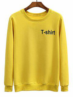 T-shirt Graphic Crew Neck Sweatshirt - Mustard