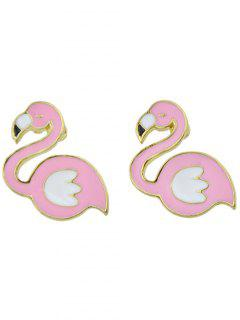 Flamingo Cute Stud Earrings - Pink