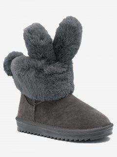 Ankle Rabbit Ear Snow Boots - Gray 36
