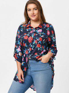 Plus Size Floral Tunika Shirt - Blumen 5xl