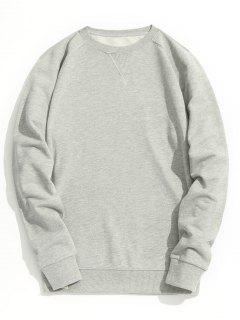 Slim Fit Crew Neck Sweatshirt - Gray Xl