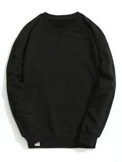 Slim Fit Crew Neck Sweatshirt - Black L