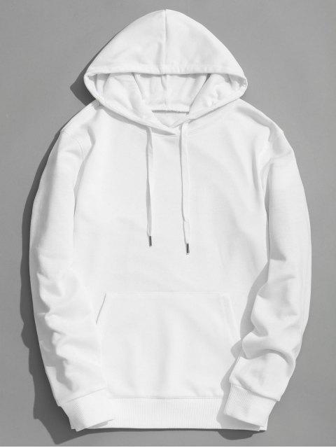 Sudadera con capucha Kangaroo Pocket Plain - Blanco L Mobile