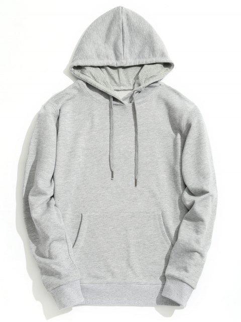 Sudadera con capucha Kangaroo Pocket Plain - Gris L Mobile