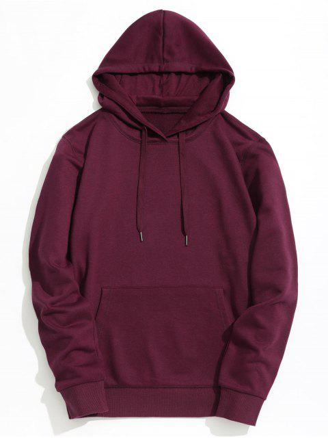 Sudadera con capucha Kangaroo Pocket Plain - Burdeos XL Mobile