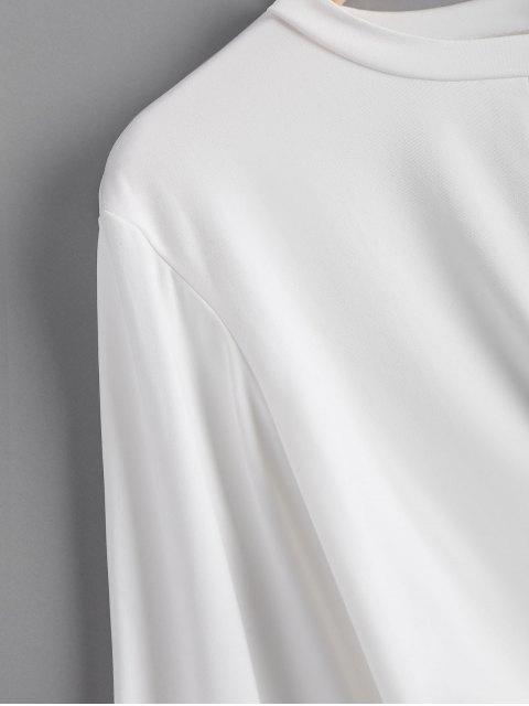 Sudadera Recortada Entretejida - Blanco XL Mobile
