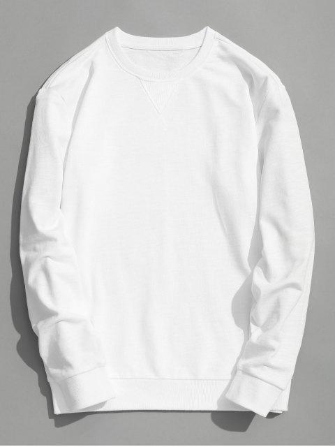 Sudadera con cuello redondo slim fit - Blanco XL Mobile