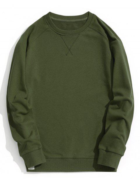 Sweat-shirt à L'encolure Ras du Cou - Vert Armée  2XL Mobile