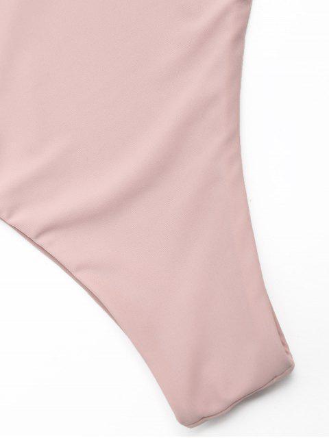 Bañador de un hombro con cordones ZAFUL - Albaricoque S Mobile