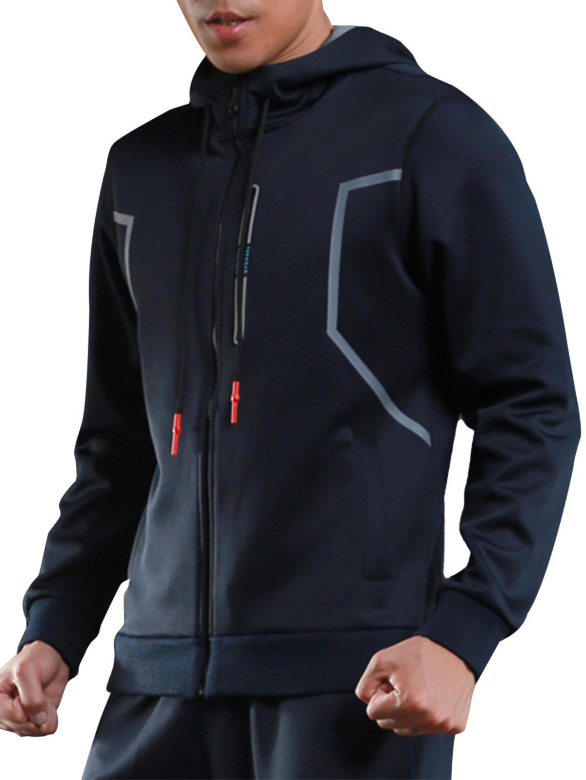Muscle Sports Athletic Zip Up Hoodie 231370809