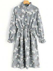 Floral Print Corduroy Dress