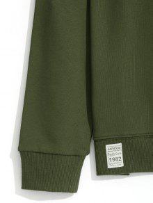 Slim Ejercito Redondo Fit Verde Xl Con Sudadera Cuello RxwPP6