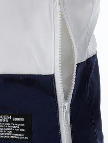 Chaqueta Jacket Embellecido Capucha Up 2xl Blanco Con Zip Ligero rw7TqrO