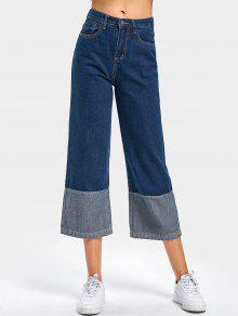 Converse De Cintura Alta, Jeans Largos - Azul Escuro S