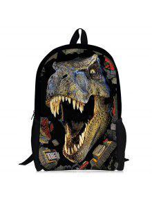 3d الديناصور طباعة الظهر - أخضر زيتوني