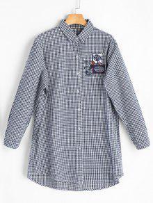 Camisa A Cuadros Bordada - Comprobado