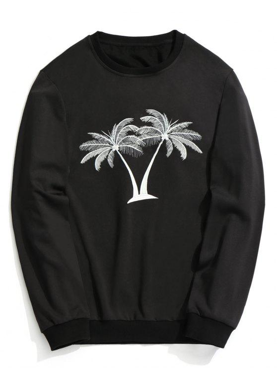 Sweat-shirt à Cocotier Brodé - Noir XL