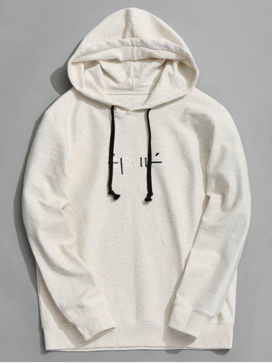online Drawstring Graphic Hoodie - WHITE XL