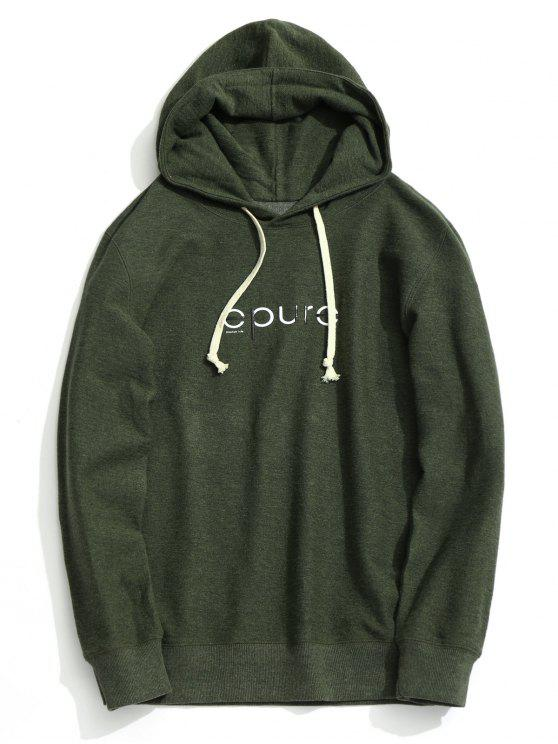 outfit Drawstring Graphic Hoodie - ARMY GREEN XL