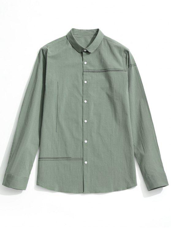 Camisa com botões - LIGHT GREEN 3XL