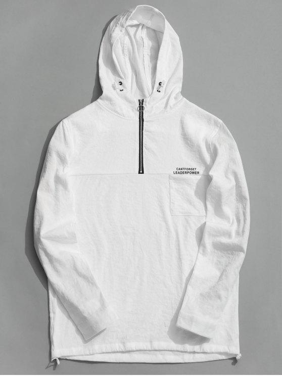 best Tunic Half Zipper Hoodie - WHITE 2XL
