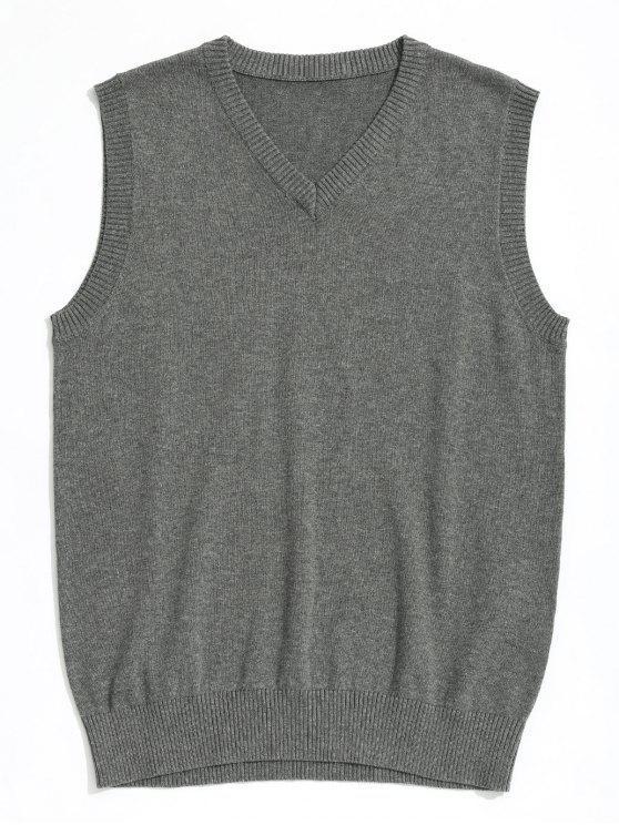 31d89287698e69 30% OFF  2019 V Neck Sweater Vest In GRAY