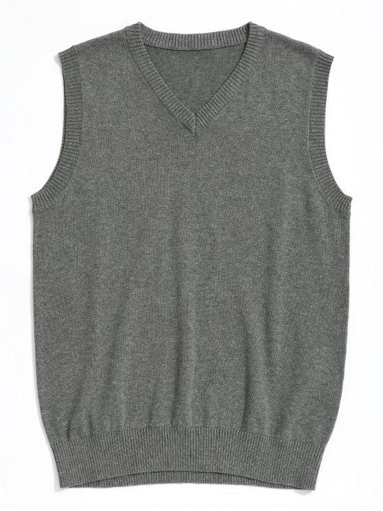 2a5d7224840 27% OFF  2019 V Neck Sweater Vest In GRAY