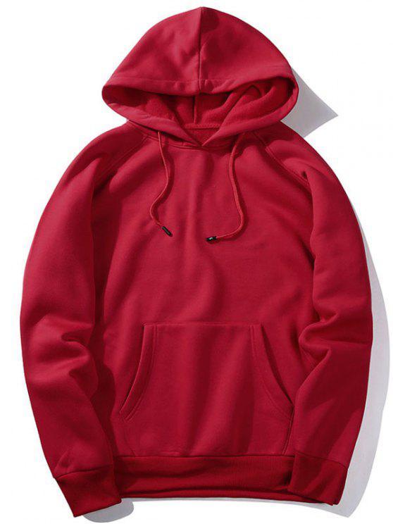 هوديي صوف للرجال - أحمر XL
