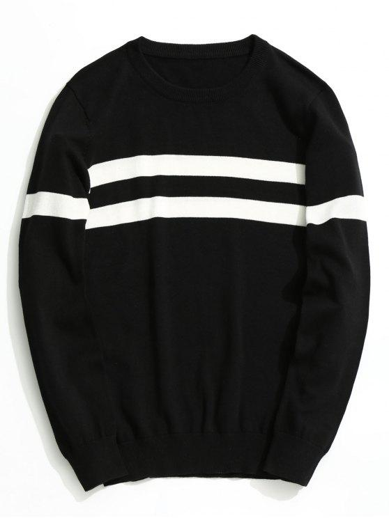 women's Striped Knitwear - BLACK XL