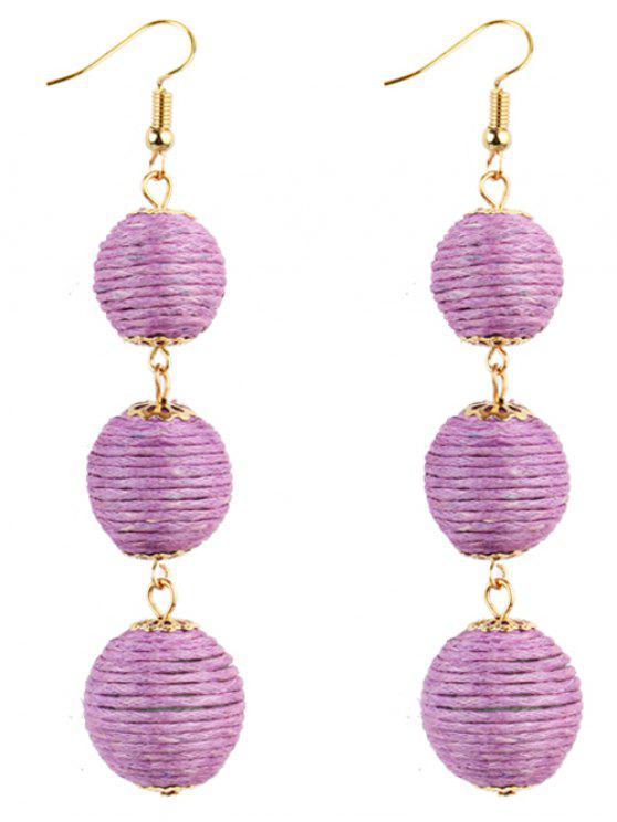 Par de Bon Bon Style Dangle Earrings - Roxo
