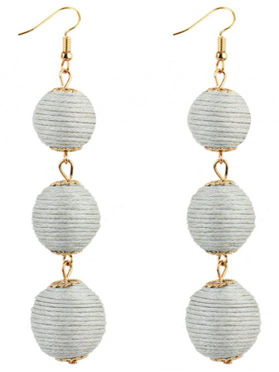 trendy Pair of Bon Bon Style Dangle Earrings - WHITE