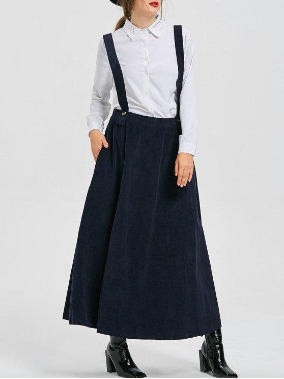 latest Swing Suspender Skirt - DEEP BLUE XL