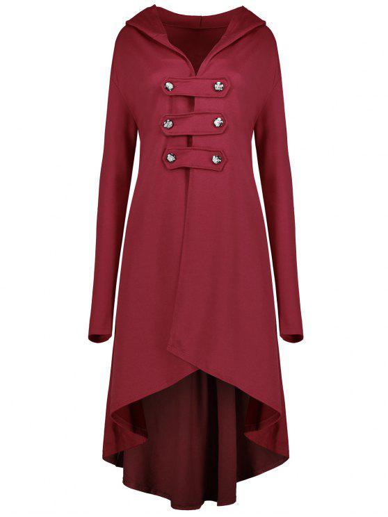 معطف الحجم الكبير سوينغ - أحمر 4XL