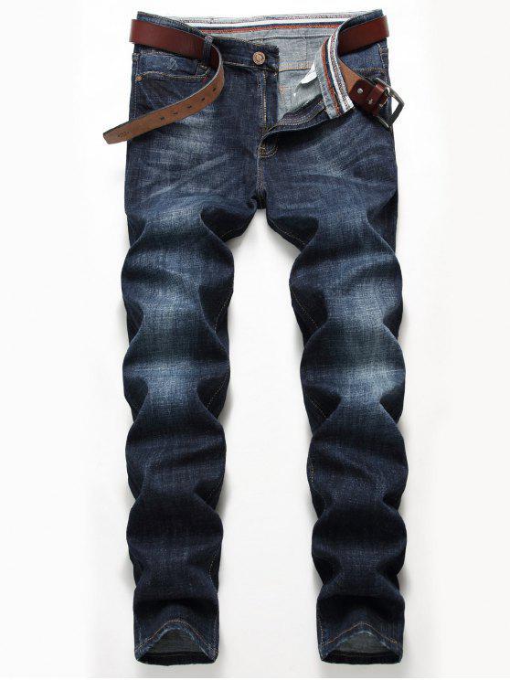 Jeans classici di gamba dritta - Blu Denim 40