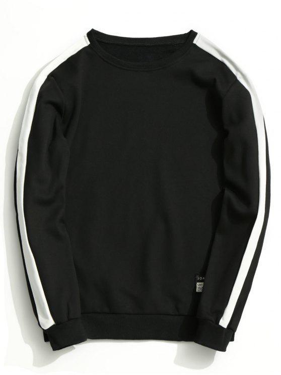 online Fleeced Two Tone Sweatshirt - BLACK 4XL