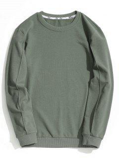 Camiseta Impresa Con Cuello De Tripulación - Verde Salvia Xl