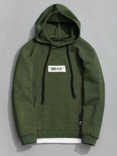 Pullover Graphic Mirror Hoodie - Green Xl