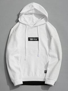 Pullover Graphic Mirror Hoodie - White Xl