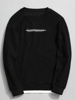 Tomorrow Textured Sweatshirt - Black 3xl