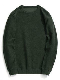 Button Embellished Knitwear - Army Green 2xl