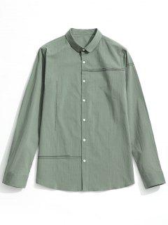 Button Up Shirt - Light Green 3xl