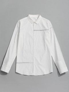 Button Up Shirt - White 2xl