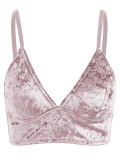 Cami Velvet Longline Bra - Pink Xl