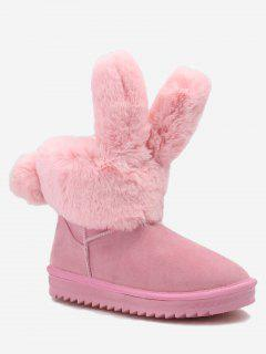 Ankle Rabbit Ear Snow Boots - Pink 37
