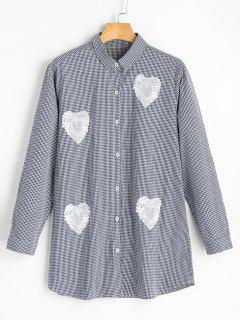 Heart Applique Gingham Shirt - Checked
