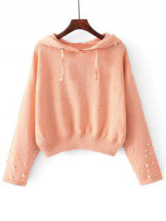Pull à Capuche En Fausse Perles - Orange Rose S