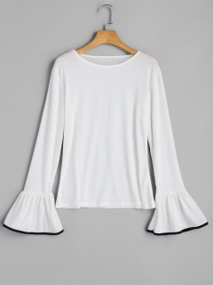 Bell Sleeve Top - White S