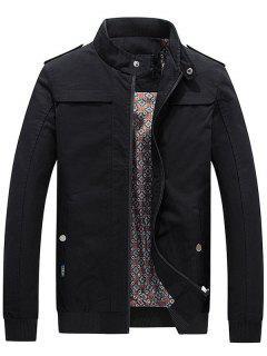 Zip-up Jacket For Men - Black 3xl